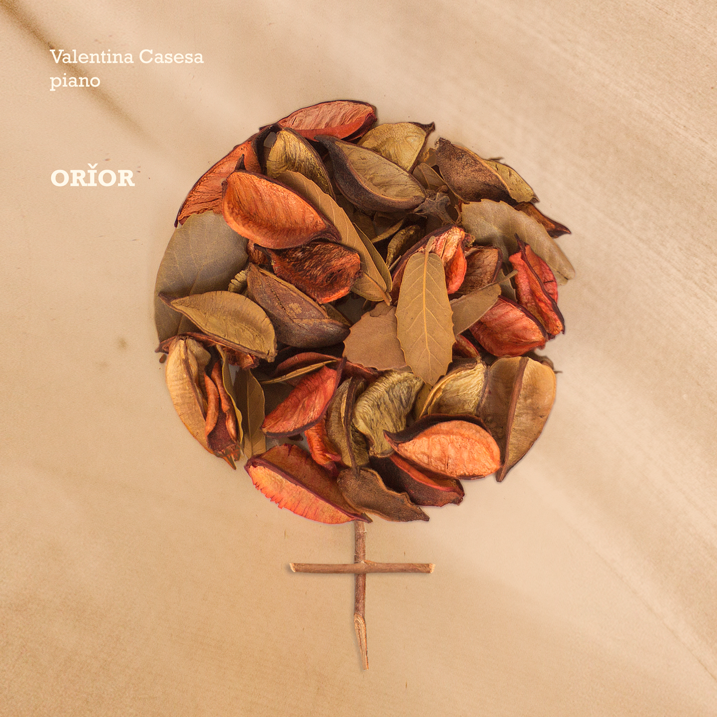 Valentina Casesa - ``Orior`` album cover | Almendra Music, Classical, Post-Classical, Modern Classical, Palermo, Sicily, Piano, Pianist