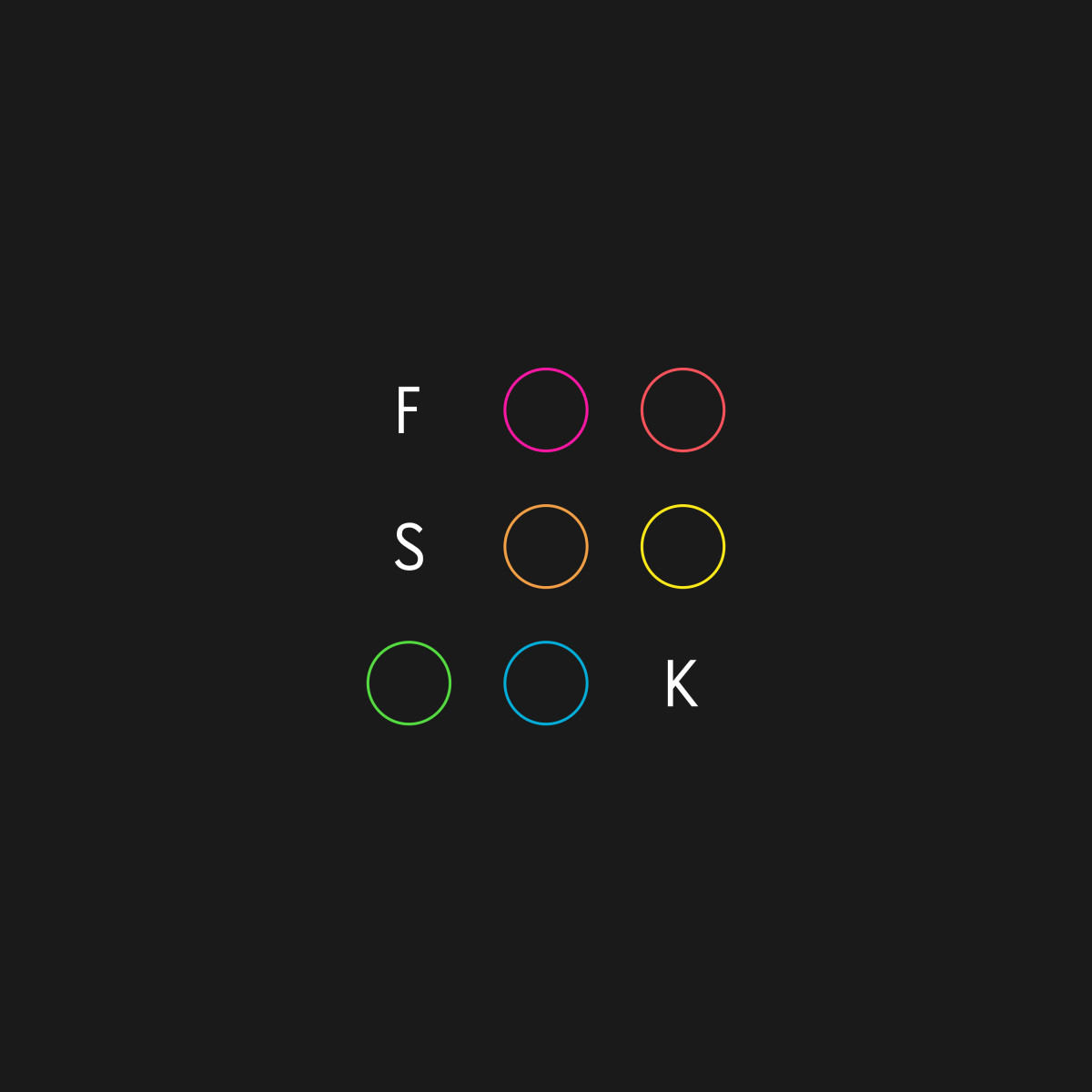 Forsqueak, FSK, album cover, Almendra Music
